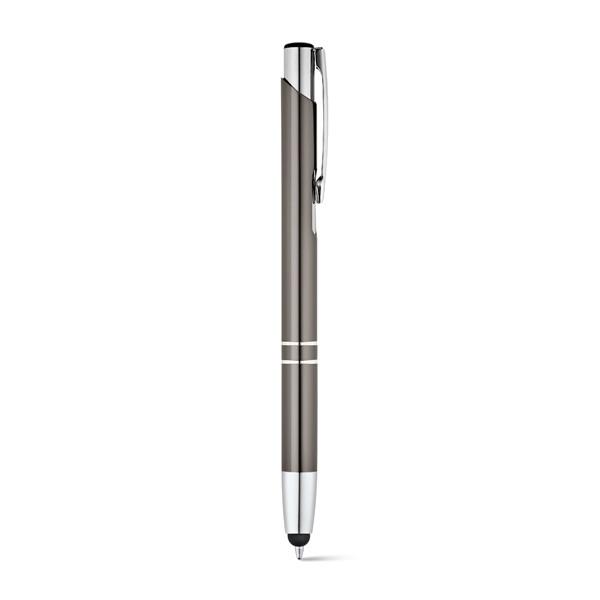 Bolígrafos publicitarios Zeta Touch Gris