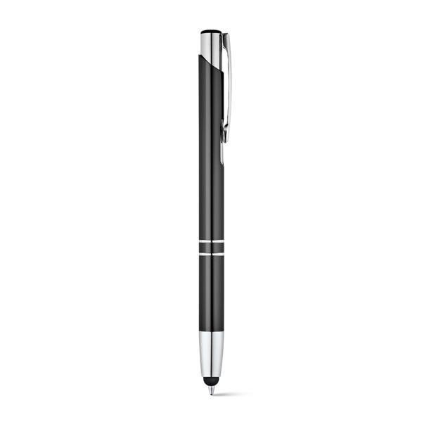 Bolígrafos publicitarios Zeta Touch Negro